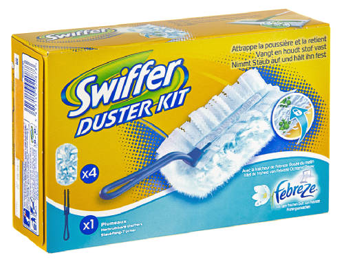 swiffer kit (1 + 4 refills) with febreze (3)